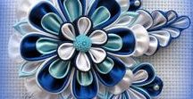 Цумами канзаши и Цветы из лент - 02