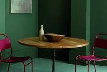 Couleur dans l'habitat / architecture, décoration intérieure, murs peints, peintures murales, palettes de couleurs...