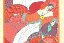 Paul Poiret & la Gazette du bon ton / années 1910, plus tout à fait Art Nouveau, pas encore Art Déco, Lepape, Poiret, Barbier, La Gazette du Bon Ton (1912-1925), Fortuny...