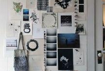 Mood boards / murs d'inspiration, composition d'images...
