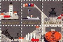 Europe du nord / Scandinavie, Pays-bas, Belgique, Allemagne, Islande... Design, modernité, géométrie, jaune, bleu, gris, orange, blanc, noir...