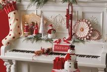 Christmas Red & White / I love a cheerful red and white palette for Christmas.