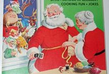 Mr.&  Mrs. Claus / It's Mrs. Claus that helps keep Santa feeling jolly! Tidbit: According to Barbara Hallman Kissinger, the first mention of Mrs. Claus was in a March 1881 issue of Harper's New Monthly Magazine. Wikipedia says her intro was earlier, in 1849.