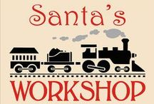 Santa's wonderful workshop / Were I a philosopher, I should write a philosophy of toys, showing that nothing else in life need to be taken seriously, and that Christmas Day in the company of children is one of the few occasions on which men become entirely alive.  ~Robert Lynd
