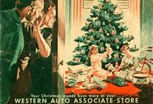 Vintage Christmas Advertising / Santa has been a salesmen for a very long time.