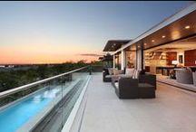 Seaside Living: Corona del Mar, CA / Indoor/outdoor living goes seaside in these beautiful custom homes featuring Western Window Systems' floor-to-ceiling sliding doors. Photos by Jeri Keogel.