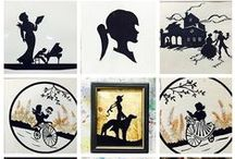 Silhouettes / Art ideas and projects incorporating silhouettes, profile, shadow, children.