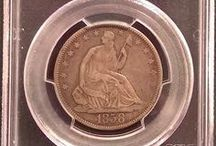 Seated Liberty Half Dollar / Inventory and prices subject to change. Call (920) 432-5950 for current stock.