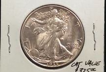 Walking Liberty Half Dollars / Inventory and prices subject to change. Call (920) 432-5950 for current stock.