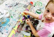 Music and Art / Musical instruments created by children.