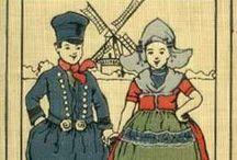 Hollande & Flandre traditionnelle / Folklore hollandais et flamand, costumes, moulins, sabots, tulipes, faïence de Delft, patinage... architecture, pignons à redents