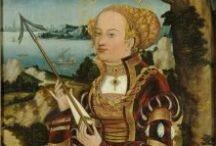 Bow and arrow - maľby 15-20 stor. / olejomaľby, európa