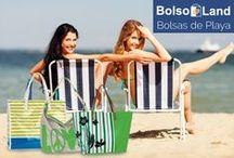 Bolsos de Playa / Bolsos de playa fabricado en poliuretano o textil con motivos y colores variados para que disfrutes de tus días de playa