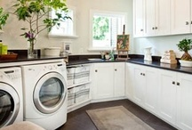 DECOR: Laundry Room / Laundry room inspirations -- make doing laundry fun!