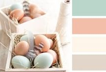 DIY: Paint Chips / Lovely color combinations for craft inspirations