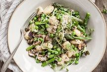 Vegetarian Spring Recipes / Fresh, vegetarian and vegan ideas for spring: asparagus, peas, greens and more.