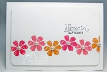 """Got 10? Make 20! / Inspired by Ann Schach's """"Got 10? Make 20!"""" series:  These are cute and stylish cards designed for the busy stamper...with the definite plus of being quick, easy and mailable.   Many of them can be stamped in ten minutes. Where does the """"Make 20"""" part come in?  These cards use Stampin' Up!'s note cards, which come 20 in a pack."""