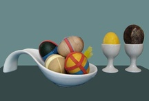 Norooz and Easter - Colored Eggs / Coloring eggs for Norooz (Persian aka Iranian New Year) & spring & Easter