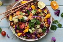 Vegetarian Salad Recipes / Who says greens can't be satisfying? Swoon-worthy salads that are heavy on the veggies (and tofu, beans, legumes, tempeh…) and full of flavor.