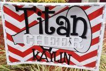 Personalized CHEER Spirit Gifts & Decor / IF YOU LOVE CHEER GIMMICKS/GIFTS, EMAIL ME rebelandsass@yahoo.com