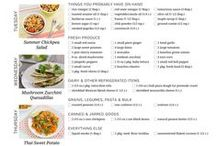 Meatless Meal Planning / Meal planning made simple.  Time-saving recipes and shopping lists for a week's worth of vegetarian and vegan meals.
