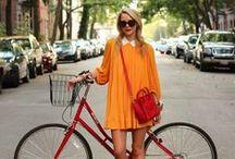 Biker chic. / Bicycles, fashion