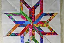 Anna's Mini Quilts / These are my granddaughter's designs she would like to quilt someday.