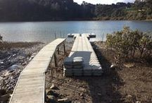 Walkways Pontoons and More / Whether you want a floating structure alongside a fixed jetty or need to get machinery across a body of water, FloatBricks can be configured to make sure your project works seamlessly.