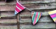 Bunting and Flags / Let's celebrate! Deckchair Stripes bunting and flags for indoor or outdoor decoration.