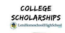 College Scholarships  - Highschool Home School / Great resources for finding your perfect fit college scholarship!