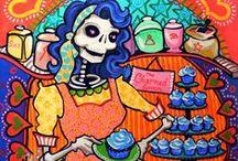 Art- Skulls/ dia de Los muertos / by Carrie King