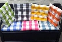 Deckchecks! / Gingham Large Check Fabrics, Tablecloths, Bunting and Seat Pads