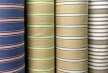 Ticking Fabrics / Scandinavian, nordic and french artisan inspired Ticking Fabrics, to achieve that rustic look in your home.