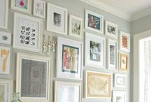 Hanging Paintings / Ideas of how to hang lots of paintings