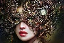 Steampunk / Victorian style in a future that has yet to arrive. Natural fibers; screws, steam and gears; brass, lace and leather and an eclectic mixture of the past and future worlds melded into a spectacle of fantasy.