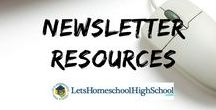 Newsletters / Let's Homeschool High School newsletters!