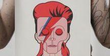 David Bowie Tribute - Vector Portrait