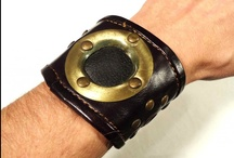 Funky Leather Accessories We Love / Leather cuffs, leather belts, leather shoulder bags, and even leather sandals.