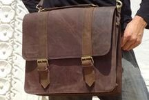 Handmade Leather Laptop Messenger Bags / Laptop bags made by hand individually. Designed to be tough, stylish, and extremely useful.