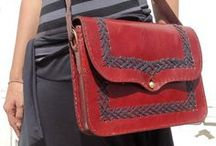 Eco-Friendly Leather Shoulder Bags / A collection of shoulder bags made from naturally treated leather and stitched by hand