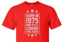 """Geboortejaar Shirts / Shirts van onze webshop """"Geboortejaarshirts.nl"""""""