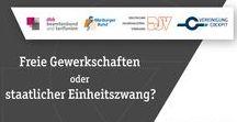 """Freiheit statt Tarifdiktatur / In Deutschland kann jeder Arbeitnehmer frei entscheiden, welche Gewerkschaft seine Interessen vertritt. Dieses Freiheitsrecht ist in Art. 9 Absatz 3 GG verankert – es gilt ausdrücklich """"für jedermann und für alle Berufe"""". Damit ist untrennbar die Möglichkeit verbunden, eigene Tarifverträge abzuschließen und diese im Konfliktfall auch mit Mitteln des Streiks durchzusetzen. Mit ihrer Forderung nach einem Zwei-Klassen-Gewerkschaftssystem will die BDA diese fundamentalen Rechte einschränken."""