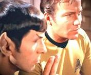 """t'hy'la ~ brother / """"I have been and always shall be your friend."""" / Kirk & Spock / Shatner & Nimoy"""