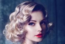 Roaring 20s / Waves, femininity, red lips and ready for a Gatsby party with the right hairstyle!