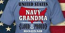 Navy Grandma & Grandpa / Art and Googies for #NavyGrandmother #NavyGrandma #NavyNana #NavyGrandfather #NavyGrandpa #NavyGram #NavyPop #Navy #USNavy NavyMomShirts.com