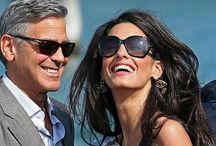 George Clooney and Amal. / by Veronica