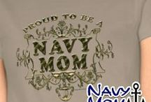 Navy Shirts - Gold Lettering / Navy shirts and hoodies with vintage gold frame, lettering and anchor.#Navy #USNavy #NavyMom #NavyTshirts #NavyMomsArt #NavyHoodies from NavyMomShop.com