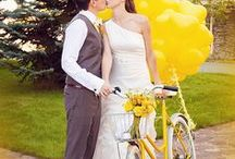 Tour de France Inspirarion / Ideas for a yellow themed wedding inspired by the Tour de France coming through Epping 7th July 2014