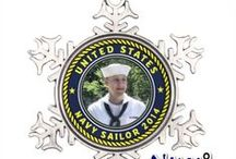 Navy Ornaments & Keychains / Personalized and Meaningful Gifts are my Favorite! Elegant United States Navy Ornaments and  Navy Keychains for my Holiday Gifts :)