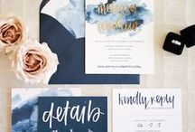 // stationery / calligraphy, hand and brush lettered stationery ideas
